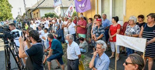 Hungarian demonstration
