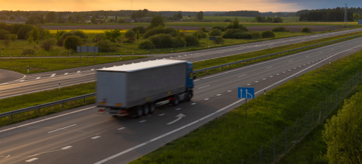lorry on European highway