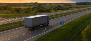 lorry on European highway