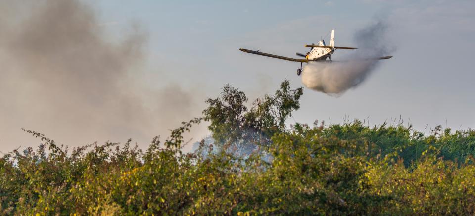 Incendies grèce avion grec